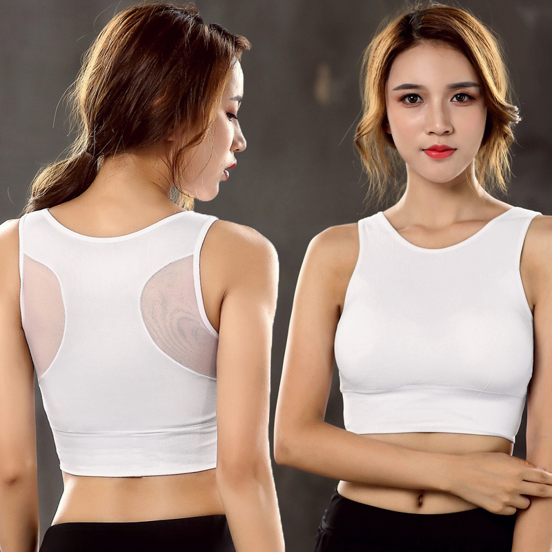 7f5a3c991e2d9 TOPPICK Mesh Breathable Push Up Sports Bra Running Shockproof Padded  Fitness Women Sport Bra Top Gym Yoga Bra Brassiere Sport-in Sports Bras  from Sports ...
