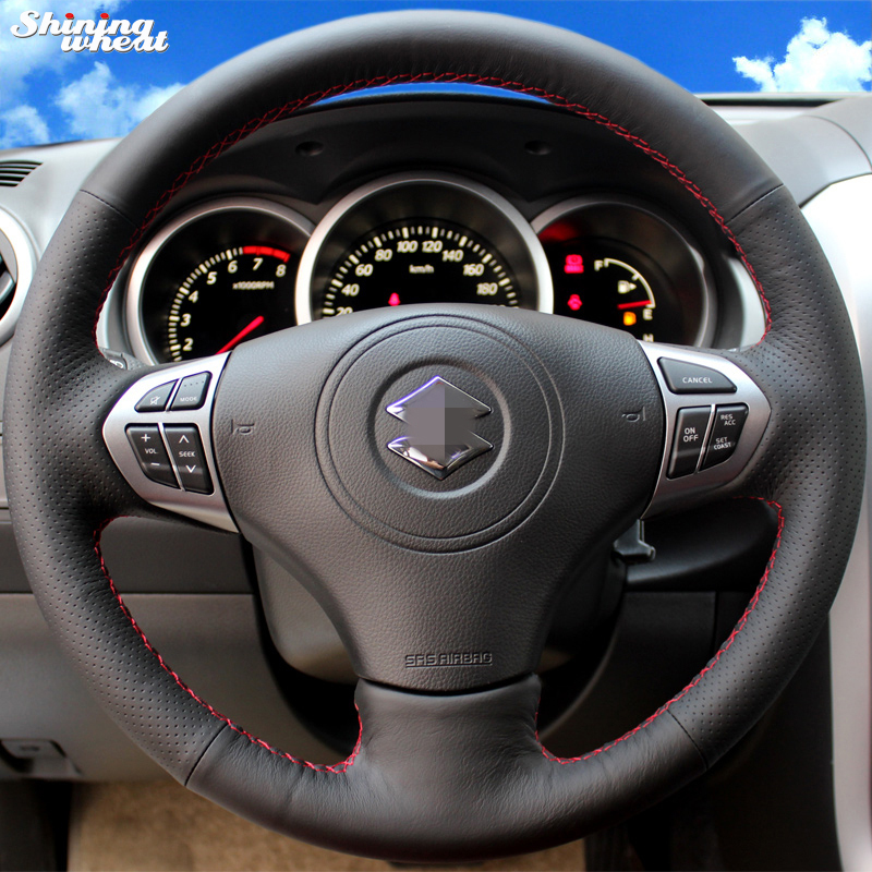 Brillant blé cousu Main Couverture De Volant de Voiture pour Suzuki Grand Vitara 2007-2013