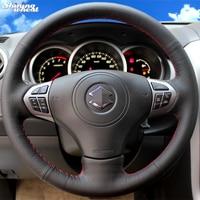 Shining wheat Hand stitched Car Steering Wheel Cover for Suzuki Grand Vitara 2007 2013
