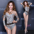 female sexy costumes bodysuit Gauze perspective ds costume sexy dj female singer jazz dance clothes show party performance