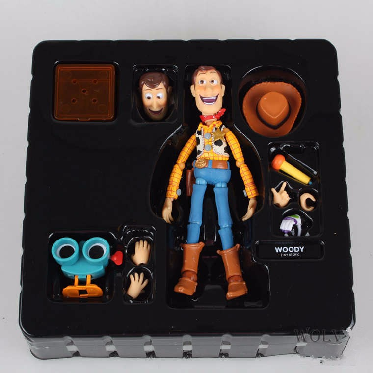 Toy Story Action Figure SCI-FI REVOLTECH Woody Anime Movie Toy Story Buzz Lightyear Friend Woody Collectible Model Toys original toy story 3 buzz lightyear robot light voice elastic wings 30cm action music anime figure kids toys for children p2