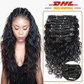 Клип в Человеческих Волос Remy Virgin Малайзии Волос в Наращивание Волос Natural Color 6А человеческих волос клип в расширения