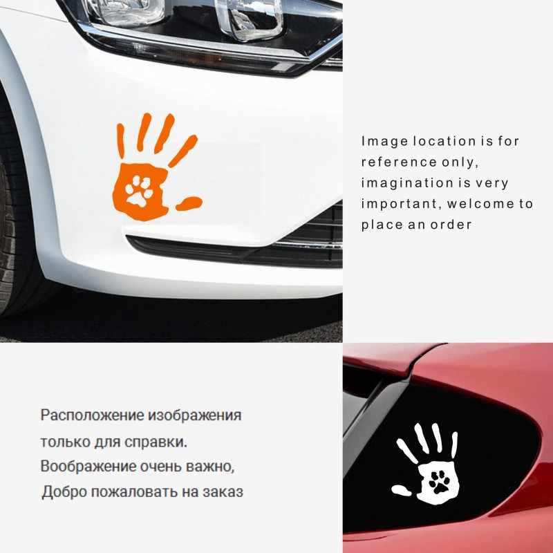 Автомобильный стикер s 14,8 см * 15,7 см ручная печать с отпечатками лап собаки автомобиль мотоциклы 3D наклейка светоотражающая водостойкая наклейка оригинальная наклейка
