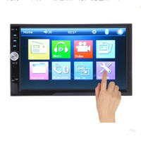 7012B 7 inch Double 2 Din Bluetooth 1080P Car Stereo Touch Screen FM Player Video Audio Mirror link Radio