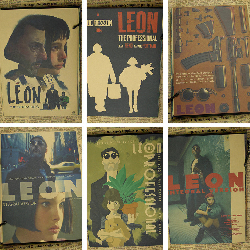 76be3930cc3 42 30cm leon the professional poster classic old movie .
