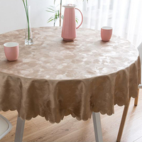 High Quality Oilproof Printed Round PVC Tablecloth Waterproof Insulate Plastic Coffee Table Pad Wedding Table Cloth Decoration