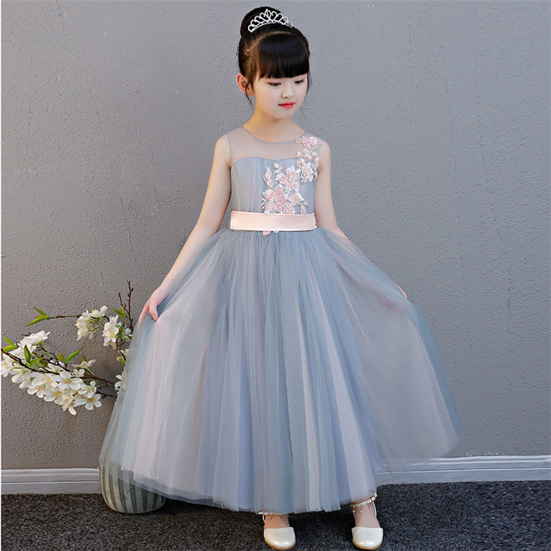 2019 Summer New Elegant Baby Girls Birthday Party Princess Tulle Dress Piano Performance Dress Kids Wedding Pageant Formal Dress2019 Summer New Elegant Baby Girls Birthday Party Princess Tulle Dress Piano Performance Dress Kids Wedding Pageant Formal Dress