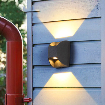 Thrisdar 6W Outdoor Waterdichte LED Muur Veranda Licht Binnenplaats Gebouw Gate Exterieur Wandlamp Gangpad Gang Balkon Wandlamp