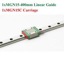 Мини Линейная Направляющая MGN15 15 мм Линейный Рельс Скольжения Сталь Длина 400 мм с MGN15C Блоков ЧПУ