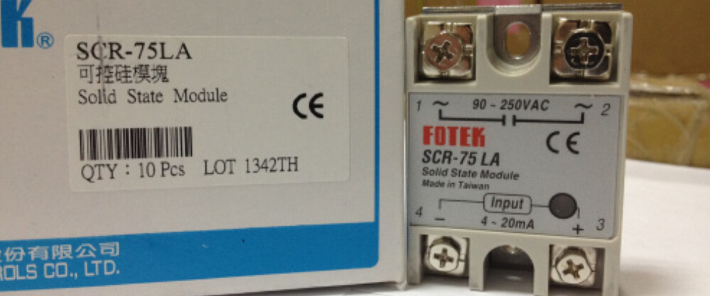 цена на 100% Original Authentic Taiwan's Yangming FOTEK solid state relay / thyristor module SCR-75LA