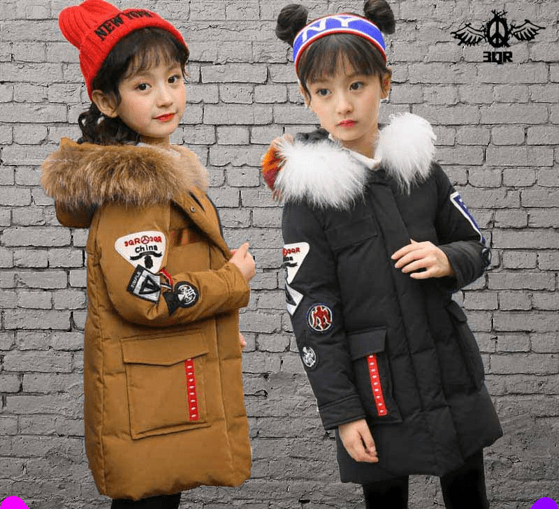 Girl Winter Long Coat Children Girls Parkas Warm Duck Down Jackets for Girls Windproof Outerwear Coat casacos de inverno120-160 fashion girls winter coat long down jacket for girl long parkas 6 7 8 9 10 12 13 14 children zipper outerwear winter jackets