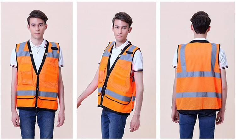 Workplace Safety Supplies Safety Clothing Romantic Sfvest En471 Hi Vis Vest Safety Vest With Logo Printing Workwear Safety Jacket Free Shipping