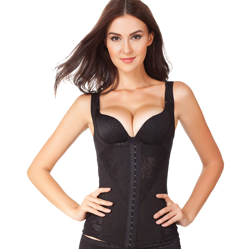 49356beb3cc Waist Trainer Corset Vests Tummy Control Underwear Shapewear Body Shaper  Vest Hook Hot Shapers Slimming Belt Plus Size-in Tops from Underwear    Sleepwears ...