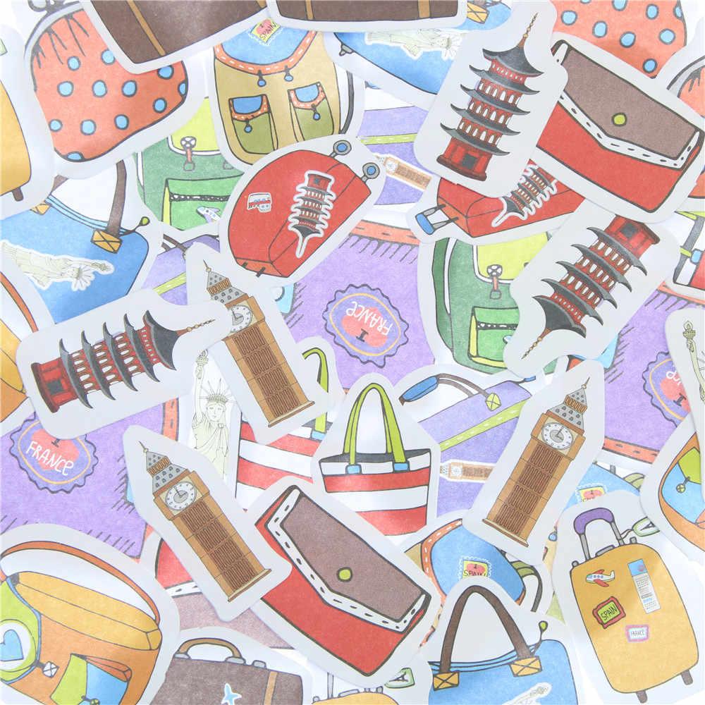 45 Pcs/lot Travel Alone Mini Paper Sticker Decoration Diy Ablum Diary Scrapbooking Label Toys Sticker