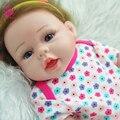"""UCanaan Menina Boneca Reborn Babies 22 """"50 CM Corpo de Vinil Silicone Cheio Crianças/Crianças Brincam Brinquedos Casa de Boneca Reborn presente O Melhor Presente"""