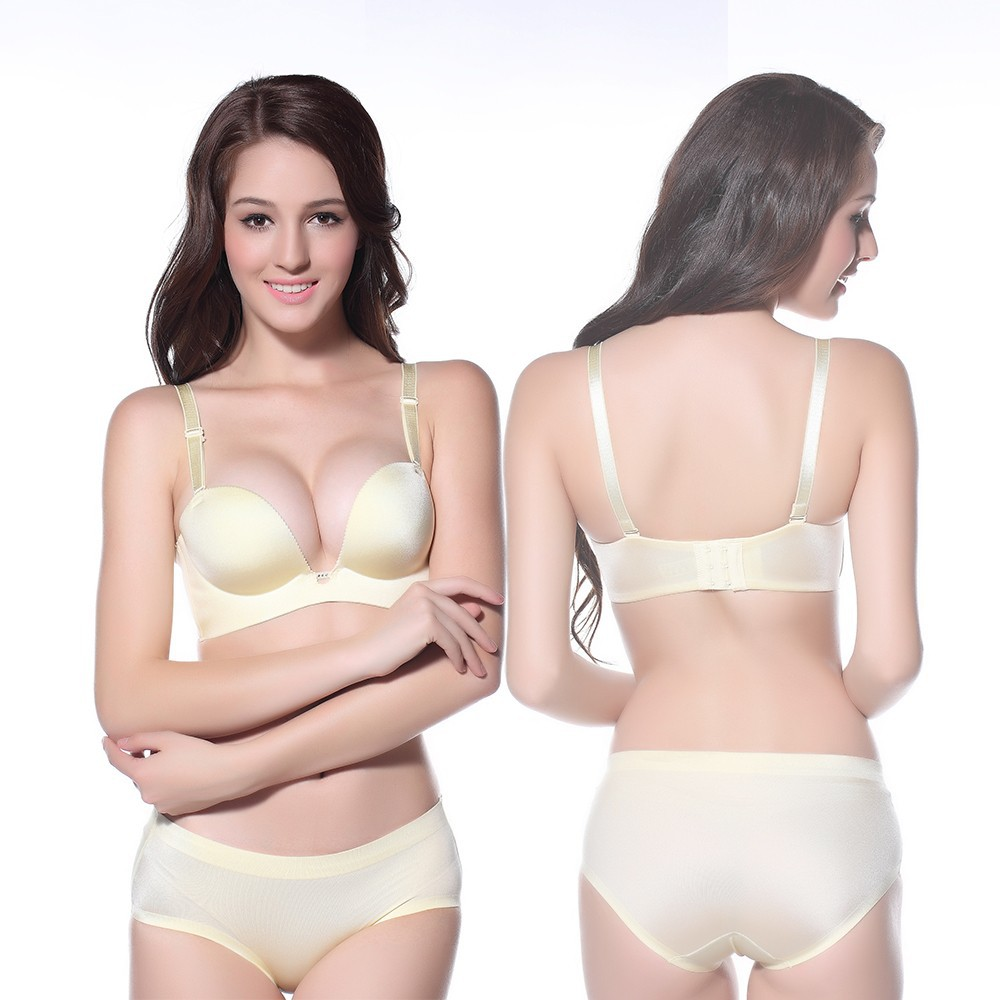 9ae74df5887fc 2015 thickness seamless bra small chest gather adjustable underwear ...