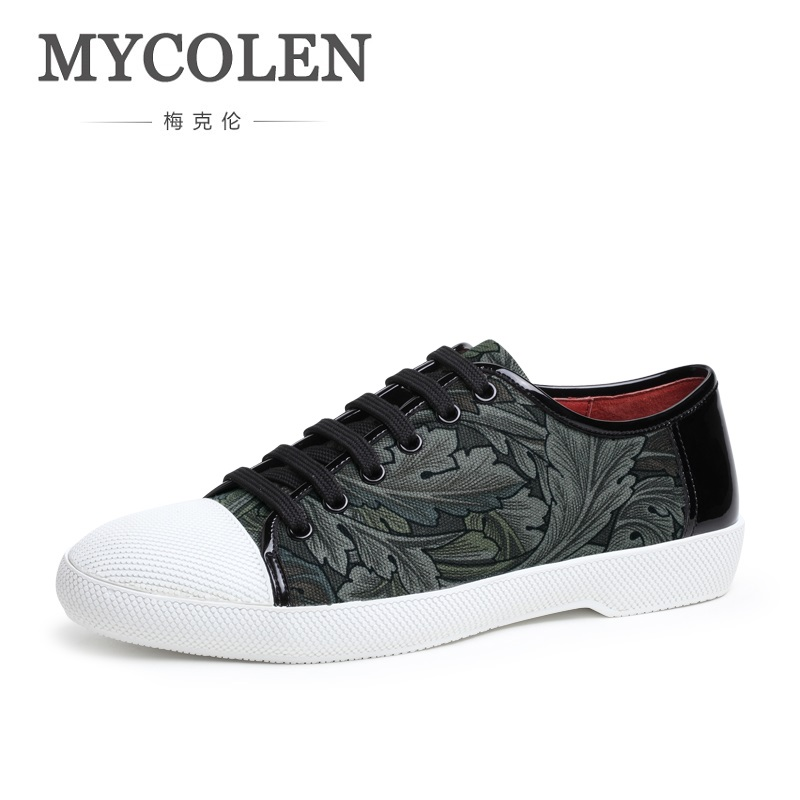 MYCOLEN 2018 New Men's Black Casual Shoes Spring Autumn Driving Fashion Flats Shoes Men Personality Canvas Shoes Tenis Branco 2017 new spring autumn men casual shoes breathable black high top lace up canvas shoes espadrilles fashion white men s flats