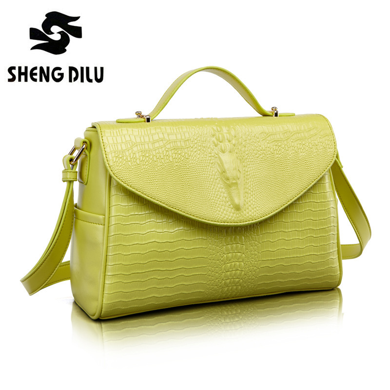 Women Bag 2016 Bag Handbags Women Famous Brands Luxury Designer Handbag High Quality Crocodile Leather Tote Hand Bag Ladies ycustbag painting handbag women famous brands 30cm gold hardware designer high quality real leather shoulder tote bag with scarf
