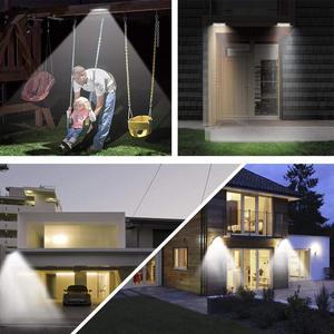 Image 4 - Le plus récent 66 led lumière solaire jardin extérieur étanche lampe murale télécommande lampe solaire pour pont patio étape paysage