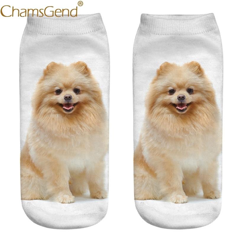 Chamsgend Drop Shipping Women Girls Casual Cute 3D Pomeranian Dog Print Cotton   Socks   80228