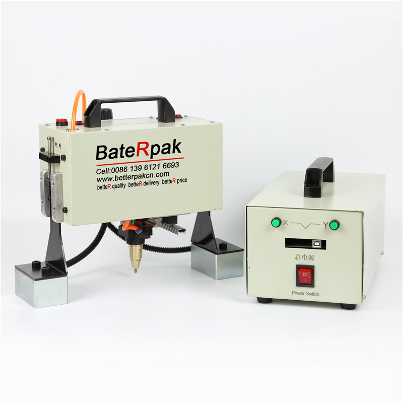 QD05 BateRpak Handheld pneumatic marking machine,Portable industrial tag machine,metal parts engraving machine(range 120*50mm) china high quality cost effective cnc portable dot peen marking machine integrated portable marking solution easy to operate