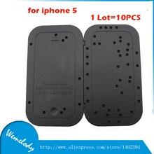 10 unids/lote herramientas de reparación de orificios para tornillos de distribución de memoria tornillo junta mat placa para iphone 5g 5