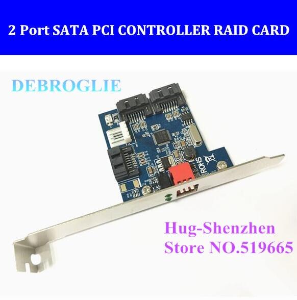 Фирменная Новинка 2 Порты и разъёмы SATA контроллер pci плата аппаратного RAID 2 SATA Serial ATA PCI контроллер RAID ввода/вывода карты ПК /Mac Pro 1.1-5.1 + кабель ...