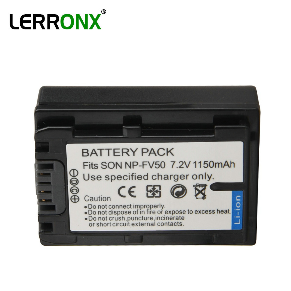 <font><b>NP</b></font>-FV50 <font><b>NP</b></font> FV50 1150mAh Li-ion Rechargeable Replacement Camera <font><b>Battery</b></font> <font><b>NP</b></font> FV70 <font><b>FV30</b></font> FV100 for <font><b>Sony</b></font> HDR DCR DVD SR HC Series image