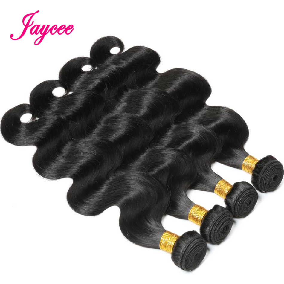 Jaycee Brazilian Hair Weave Bundles Body Wave 4 Bundle Deals Human Hair Extension tissage cheveux humain remy