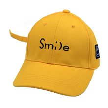 Kids Smile letter Baseball caps  for Children Hat Boys Girls Snapback Summer Caps Cute Kid bone