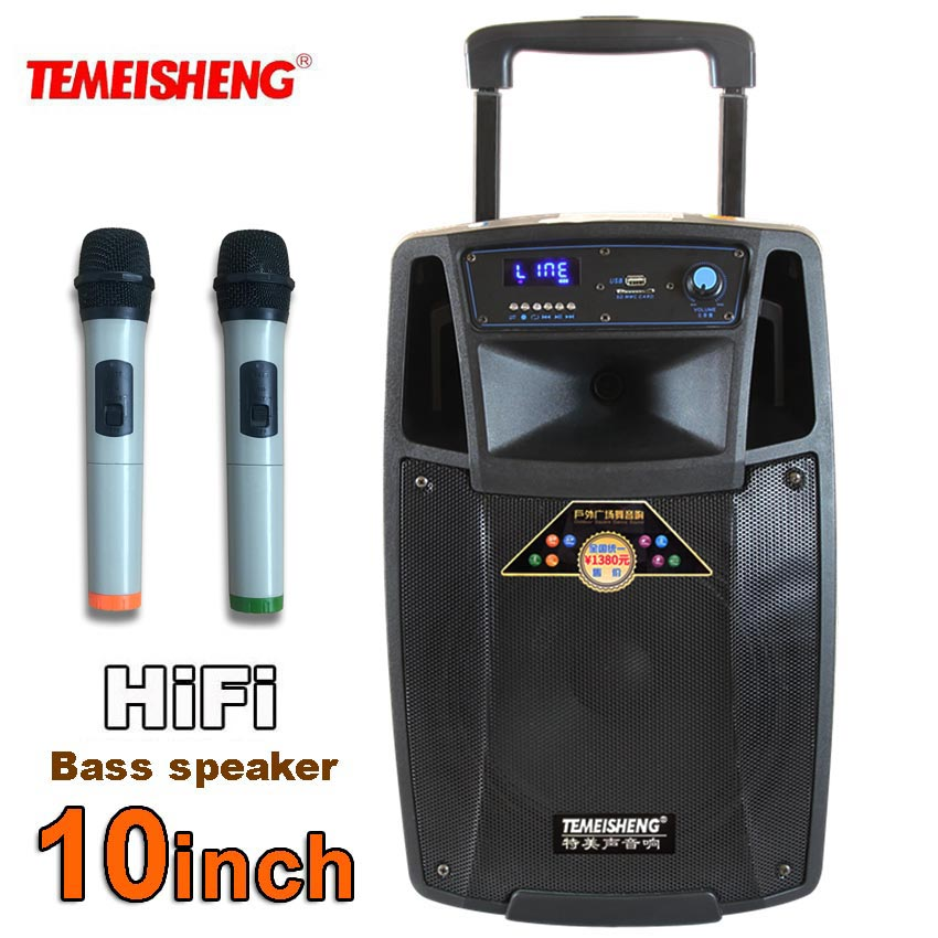 temeisheng lever sl10 high power portable loudspeaker bluetooth speaker support wirelss. Black Bedroom Furniture Sets. Home Design Ideas