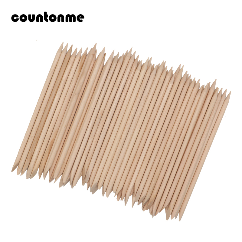 50pcs Nail Designs Nail Art Stick Orange Wood Stick Cuticle Pusher Remover Pedicure Manicure Tool Not Easy To Harm Your Nail 114