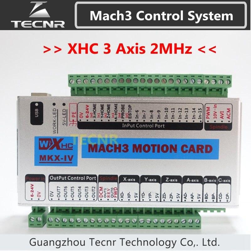 XHC MK4 Mach3 breakout board 3 axis USB motion control card 2MHz support windows 7,10 new arrival mach3 four axis controller xhc cnc mach3 usb 4 axis motion control card breakout board 24v 2000khz support windows