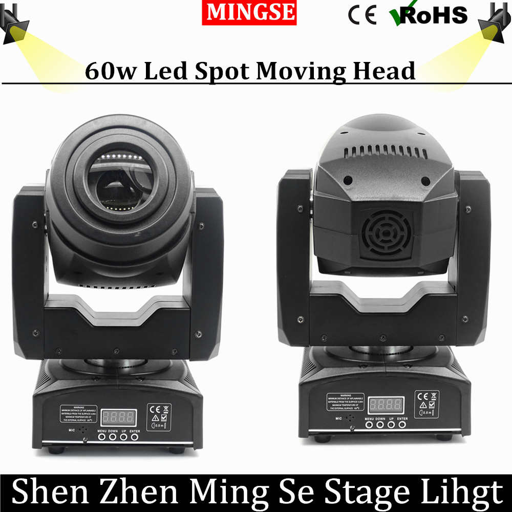 60W LED Moving Head Light 3 Face Prism Spot Light with Rotation Gobo Function for DJ Disco Stage  Projector Dmx 4/15 Channels led 30w spot moving head lights party disco dj stage lighting 30w mini gobo projector dmx stage effect light led pattern lamps