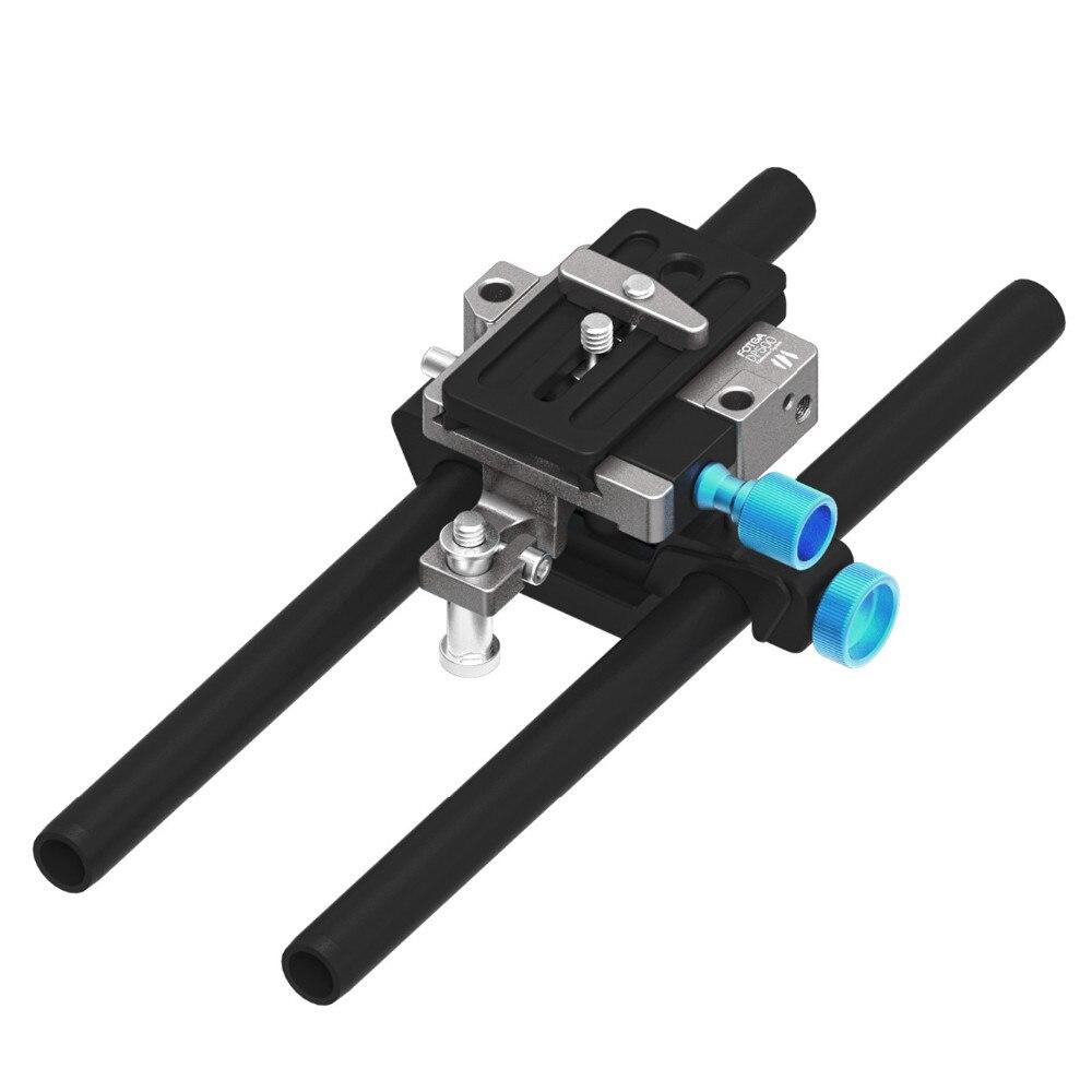 FOTGA DP500 Mark III 3 15mm Rail Rod Dovetail Baseplate QR For DSLR Follow Focus fotga dp500iis quick release qr baseplate rail system rod for follow focus dslr