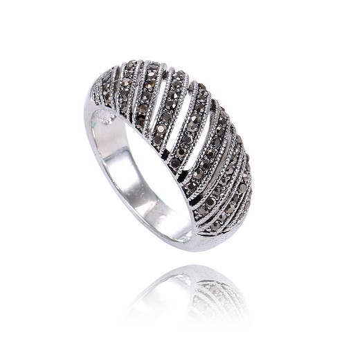 new cz sterling silver rings setting microscopic ring crown stylish simplicity