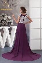 Женское вечернее платье с аппликацией bealegantom шифоновое