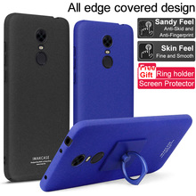 Xiaomi Redmi 5 Plus Case IMAK Frosted Plastic Back Cover Case For Xiaomi Redmi 5 Plus With Ring Stand Function