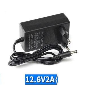 Image 4 - 18650 carregador de bateria de lítio 12.6v 2a 12.6v 1a dc ue eua plug 5.5mm * 2.1mm 100 220v lítio li ion bateria carregador de parede 1m