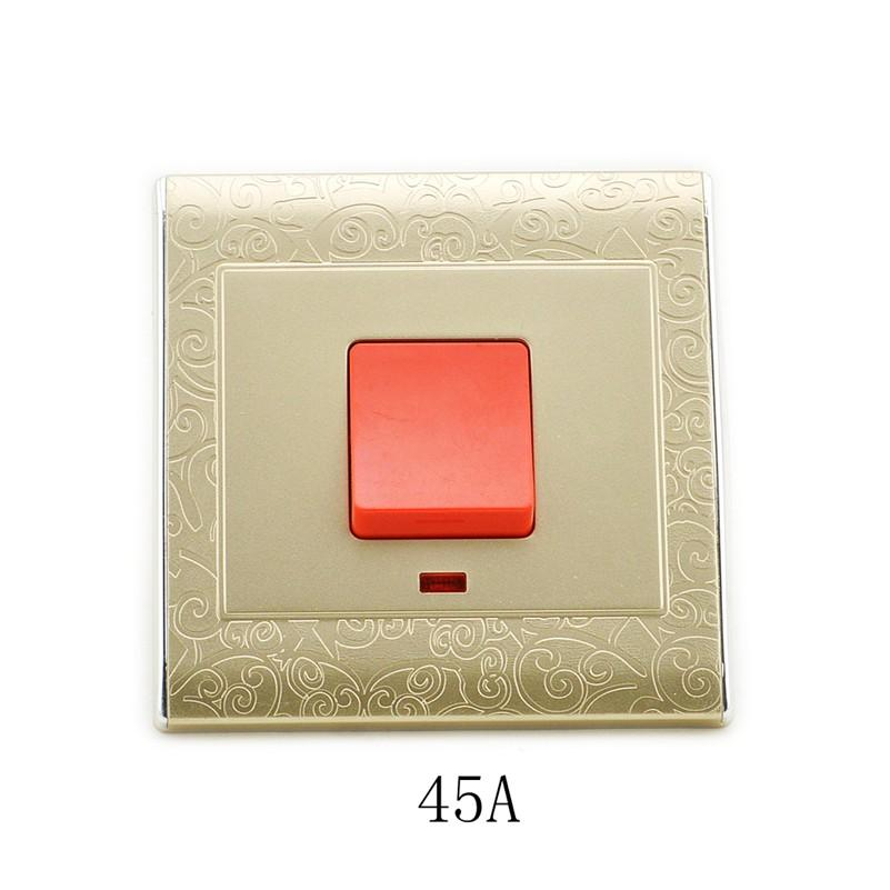 MK-WS05040 Durable 45A High Power Lamp British Standard Heater Wall Switch for Large Power Elec  цены