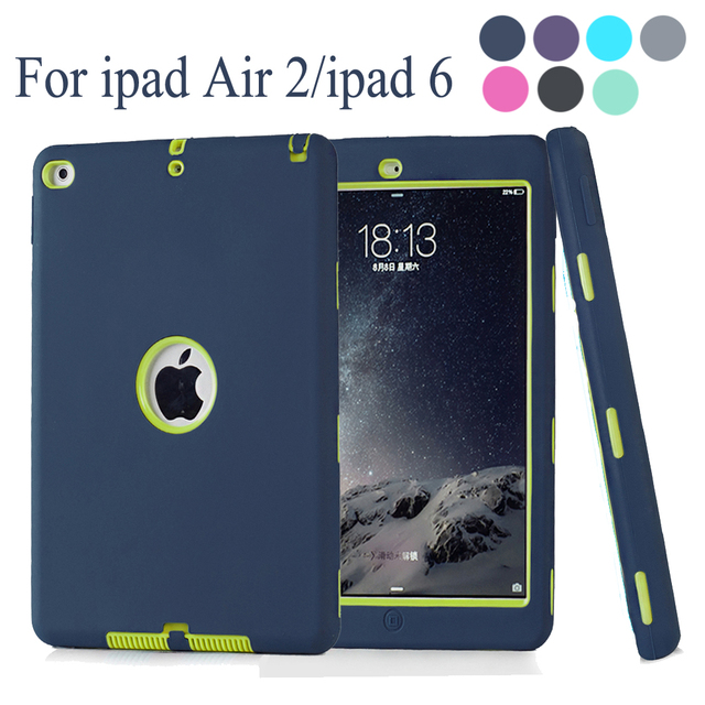 Case for apple ipad air 2 ipad 6 retina kids baby safe armor case for apple ipad air 2 ipad 6 retina kids baby safe armor shockproof heavy duty fandeluxe Image collections
