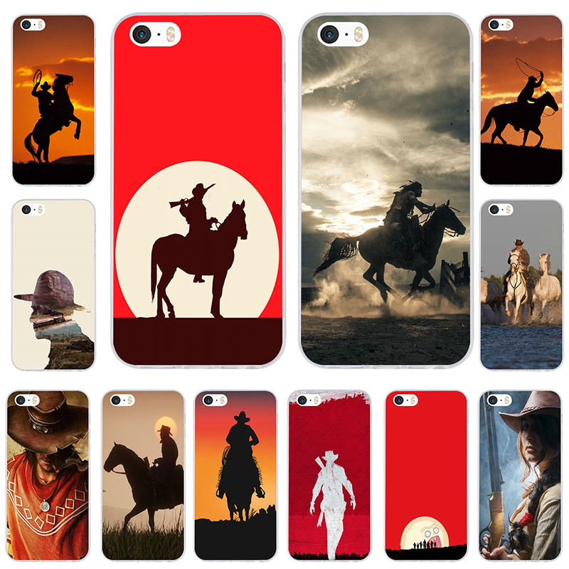 For iphone 6 Case Western Cowboy Soft TPU Silicon Mobile Phone Cases for iphone 7 6S 6 8 Plus 5 5S 5C SE X 4 4S Coque Shell Bags