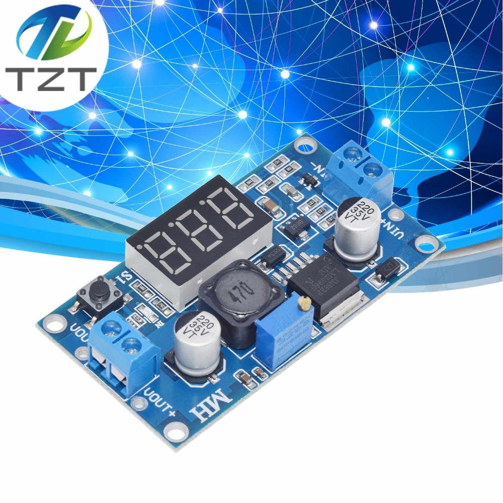 New LM2596 Led Voltmeter DC--DC to Buck Step Down Adjustable Power Supply Module