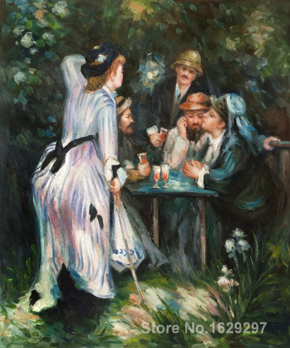 Картина маслом Художественная галерея в саду Ренуара Пьера Огюста Ренуара воспроизведение холст ручной работы высокого качества