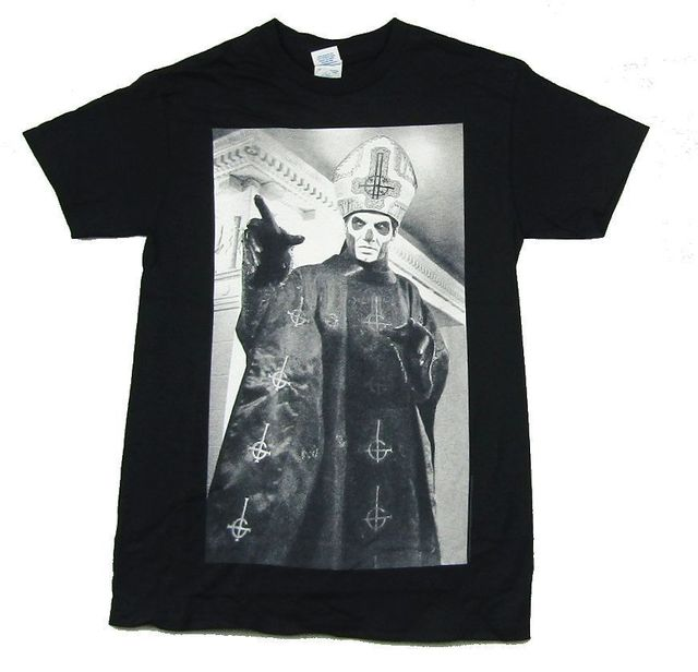 b825feea27 Ghost B.C. Icon Papa Emeritus Black T Shirt New Official Band Merch New  Arrival Male Tees Casual Boy T-Shirt Tops Discounts