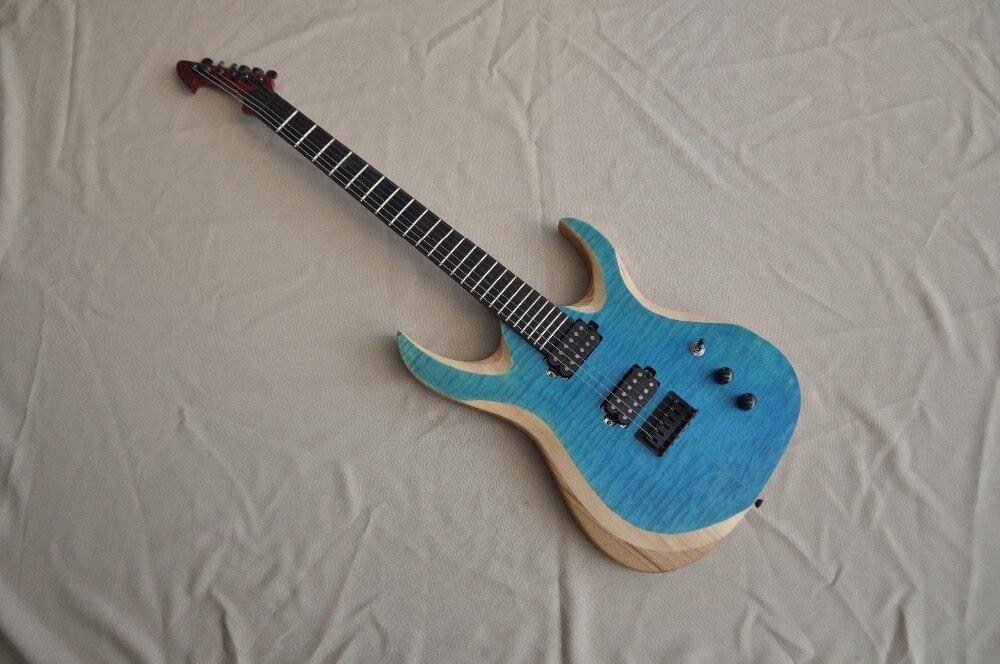 Guitare Firehawk érable touche tilleul corps bleu couleur guitares-chine