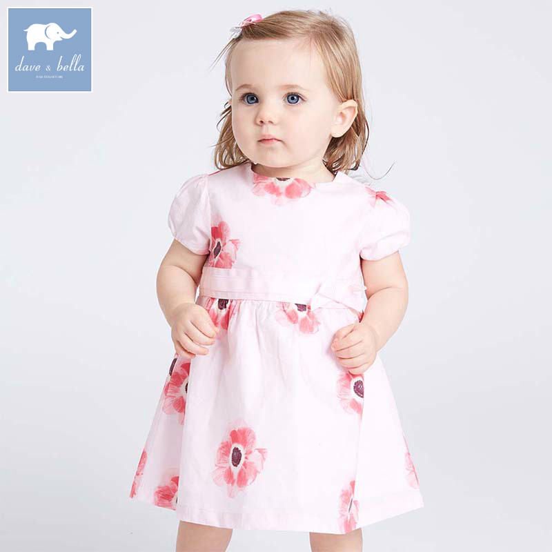Dave bella lolita baby girl clothes children summer clothing infant toddler party wedding floral girls dress DBJ7167 db5708 dave bella baby girl lolita dress stylish printed dress toddler children dress