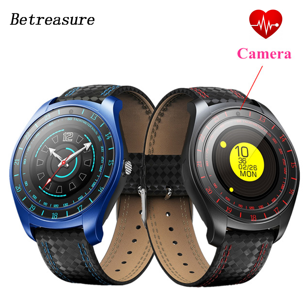 Betreasure BW43 Smart Watch with Camera Bluetooth Smartwatch Fitness Heart Rate Monitor Sim/TF Card Wristwatch for Mobile Phone цена