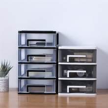 Boîte de rangement transparente à 4 niveaux, tiroir de bureau, boîte de rangement de produits cosmétiques, porte-articles divers, boîte de rangement de bureau à domicile