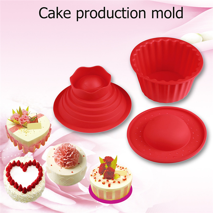New Household Silicone Giant Cupcake Mold 3 PCS Big Top Cupcake Silicone Mould Heat Resistant Kitchen Bake Tools Baking Maker|giant cupcake mold|cupcake mold|silicone mould - title=